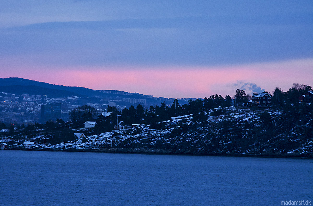 Oslofjorden ved solopgang
